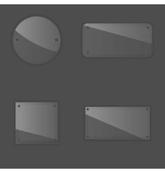 Glass label set vector image