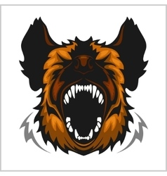 Head of laughing hyena vector