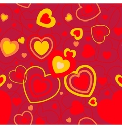 Heart shape seamless background vector image vector image