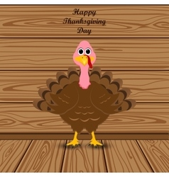 Holiday turkey on thanksgiving day vector