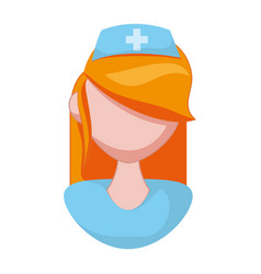 Isolated nurse face vector