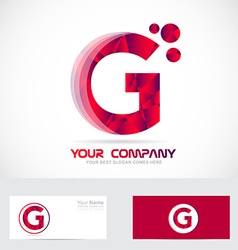 Letter G red logo vector image vector image