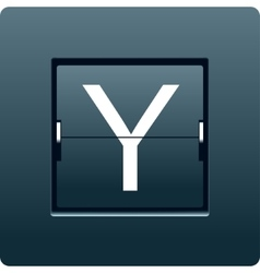 Letter y from mechanical scoreboard vector