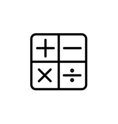 line calculator icon on white background vector image vector image