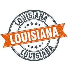 Louisiana red round grunge vintage ribbon stamp vector