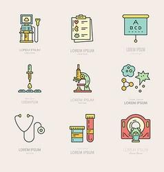 Medical labels vector