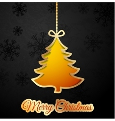 Orange Christmas tree vector image