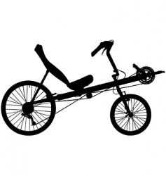 recumbent bicycle vector image vector image