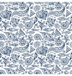 Sea Life Texture vector image vector image