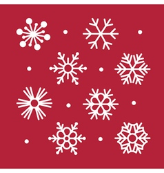 simple snowflakes collection vector image