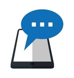 Smartphone bubble speech chat communication vector