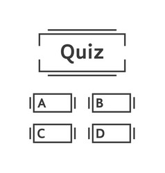 Thin line quiz game template vector