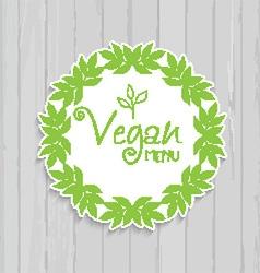 Vegan menu design 1307 vector