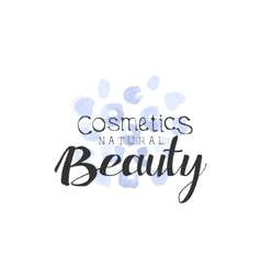 Cosmetics beauty promo sign vector