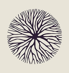 Concept tree branch circle shape vector image