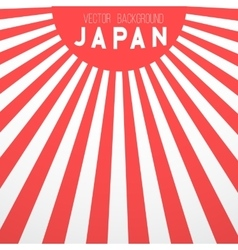 Japan Flag Background Retro Style Japan vector image