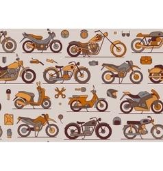 motorbikes seamless pattern vector image