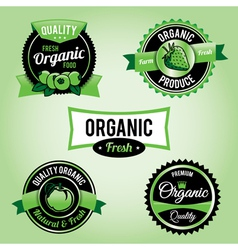 Organic labels and badges vector