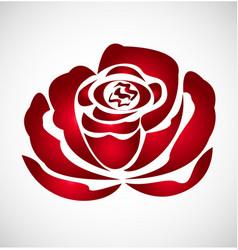 Red rose flower logo vector