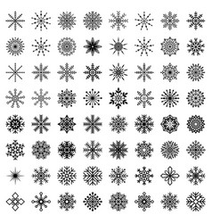 Big set of snowflakes vector