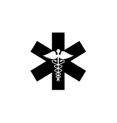 Caduceus solid icon medicine and health sign vector
