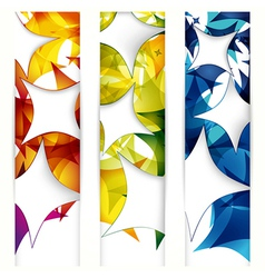 Abstract banner forms vector