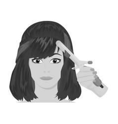 Hair single icon in monochrome stylehair vector