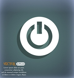 Power switch on turn on icon symbol on the vector