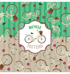 Pattern bicycle set number 4 vector