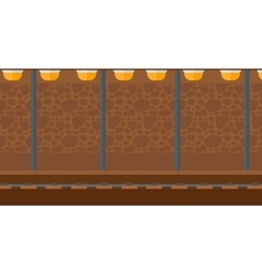 Background of subway tunnel vector