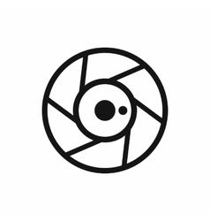 Camera aperture icon simple style vector