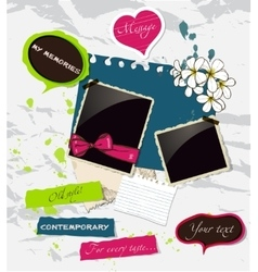 Fresh scrapbooking elements set vector