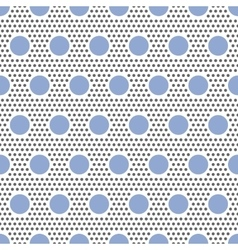 Big and small circles seamless pattern on white vector image vector image