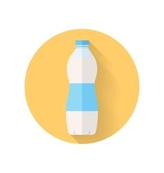 Bottle of fresh milk flat style vector