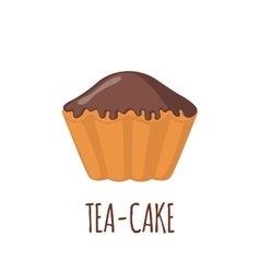 Cake icon on white background vector image