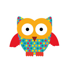 color sticker owl icon vector image vector image