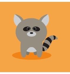 Cute Cartoon raccoon vector image vector image