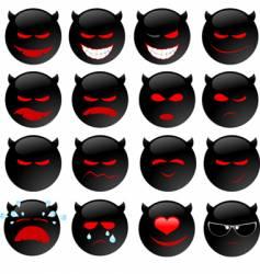 devil's smiles set one vector image