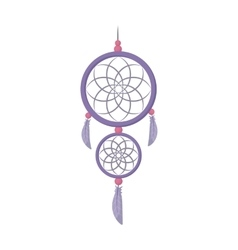 Dreamcatcher icon in cartoon style isolated on vector image