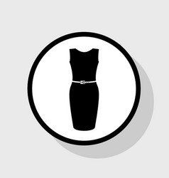 Dress sign flat black icon vector