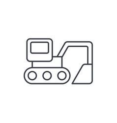 Excavator thin line icon linear symbol vector