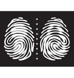 Fingerprint with keyhole and padlock shape vector image vector image