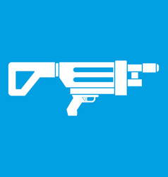 Game gun icon white vector