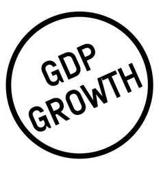 Gdp growth stamp typographic stamp vector
