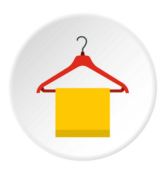 Hanger with cloth icon circle vector