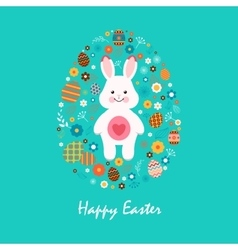 Happy easter 13 vector image vector image