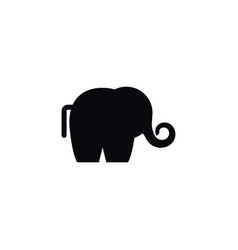 isolated ivory icon trunked animal element vector image vector image