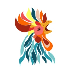 Isolated rooster head decorative logo vector
