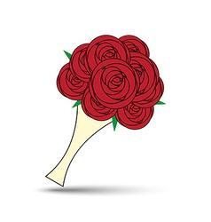 Love rose bouquet vector