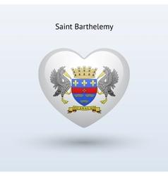 Love Saint Barthelemy symbol Heart flag icon vector image vector image